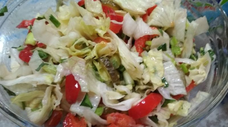 Салат айсберг простой и вкусный рецепт