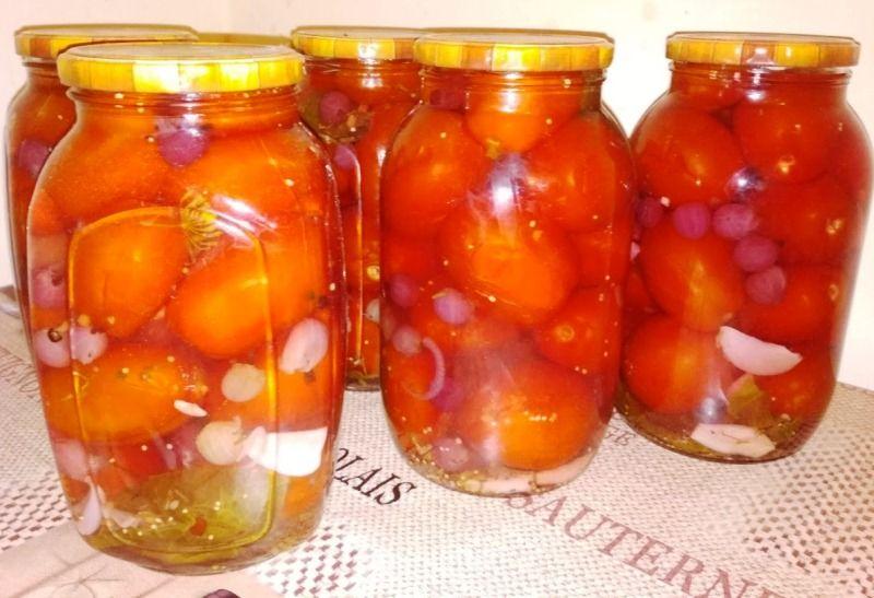 Маринованные помидоры на зиму – очень вкусные и сладкие
