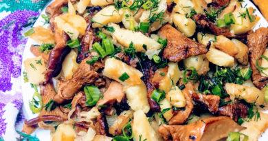 картошка жаренная с лисичками главная