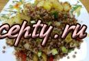 Постная гречка с овощами на сковороде – простые рецепты приготовления
